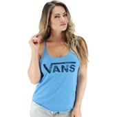 Regata Vans Authentic Logo Tank Feminina Azul