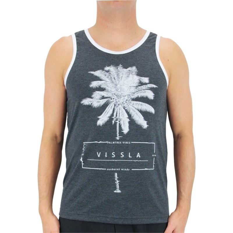 Compre Regata Vissla dos Tank Palms Preta na Surf Alive 51116e02379