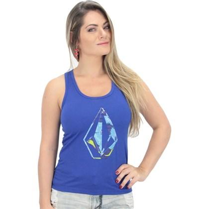 Regata Volcom Feminina Bonita Floral Azul Bic