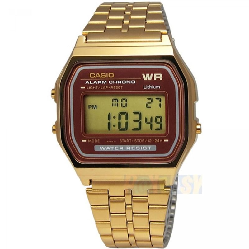 e621f53554f Relógio Casio Vintage A159WGEA-5DF Dourado - SurfAlive