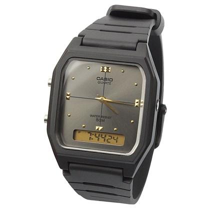 339cceb0c20 ... Relógio Casio Vintage AW-48HE-8AVDF Fundo Chumbo