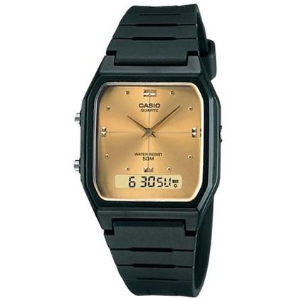 273b3ca7a75 Relógio Casio Vintage AW-48HE-9AVDF Fundo Dourado ...
