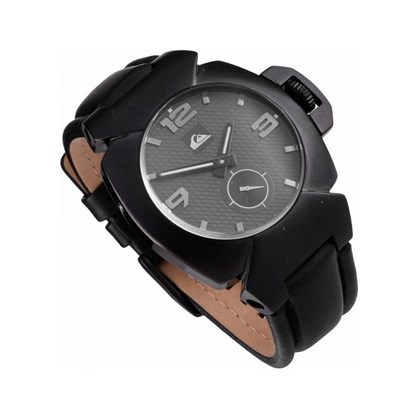 ed6dd52994a45 RELÓGIO QUIKSILVER THE FOXHOUND LEATHER ALL BLACK RELÓGIO QUIKSILVER THE  FOXHOUND LEATHER ALL BLACK