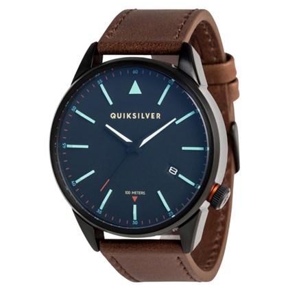 Relógio Quiksilver The Timebox Leather Black