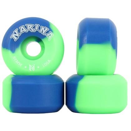 Roda Narina Rajada Verde e Azul 56mm 100a