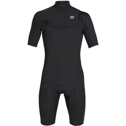 Short John Billabong 2/2 Absolute Comp Chest Zip Black