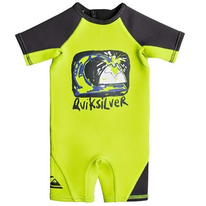 Short John Infantil Quiksilver Syncro 1.5 mm Safety Yellow