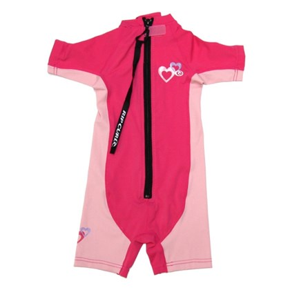 Short John Lycra Rip Curl Mini Girl Hot Pink