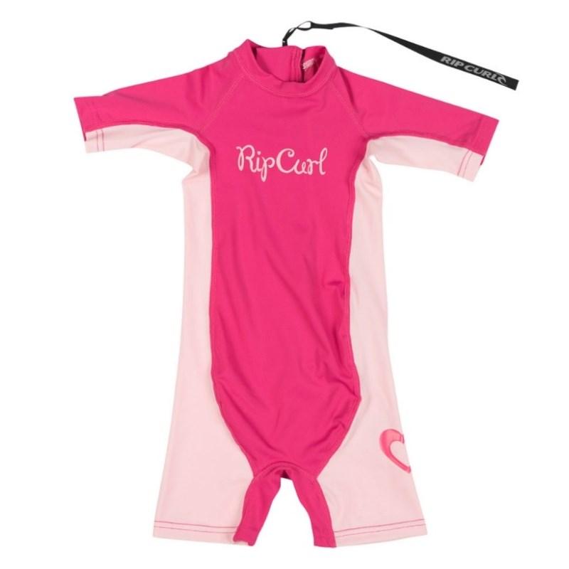 Short John Lycra Rip Curl Mini Girl Hot Pink
