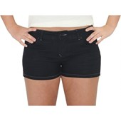 SHORT ROXY JEANS BASIC BLACK FEMININO