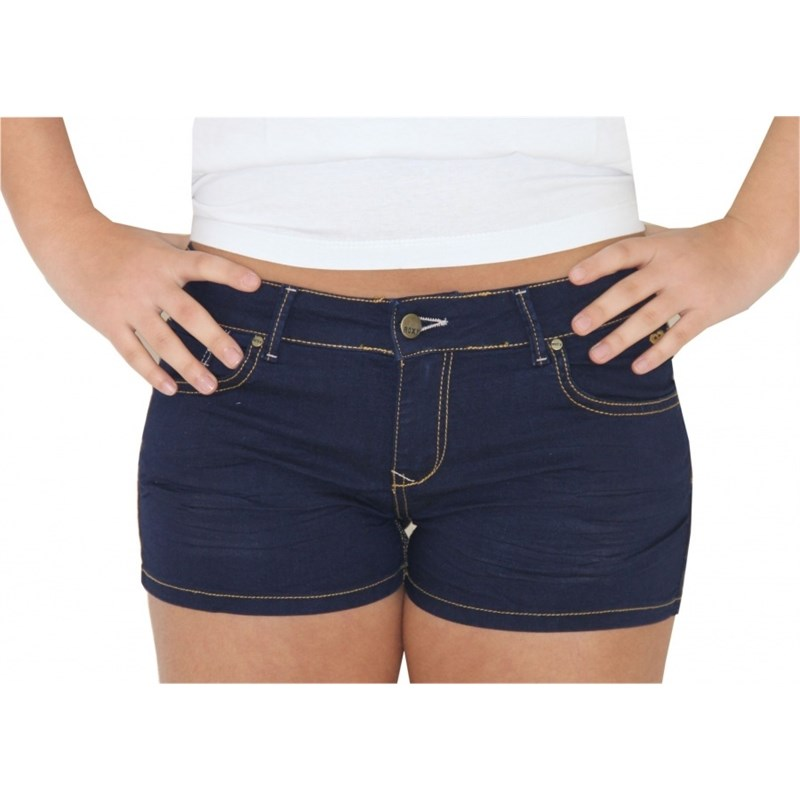 SHORT ROXY JEANS BASIC BLUE FEMININO