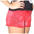 SHORT VOLCOM SARJA HIGH VOLTAGE CUTT OFF FEMININO RED
