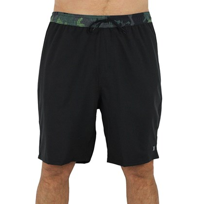 Shorts Volley Extra Grande Hurley Hunter Black