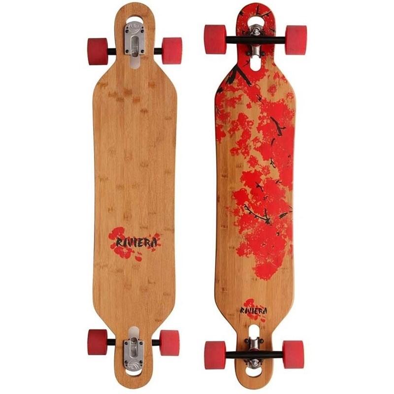 Skate Riviera Longboard Cherry Blosson Droptrough