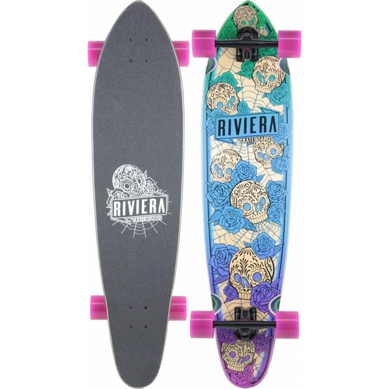 Skate Riviera Longboard Los Muertos Printed Grip