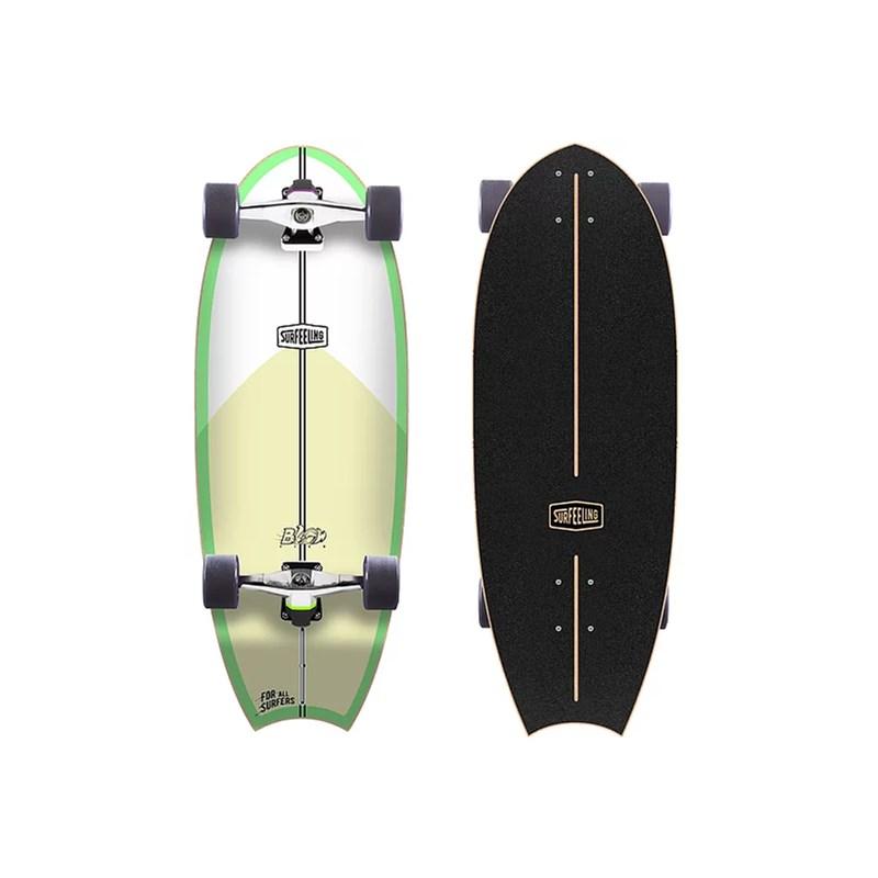 Skate Simulador de Surf Surfeeling Blowfish Green