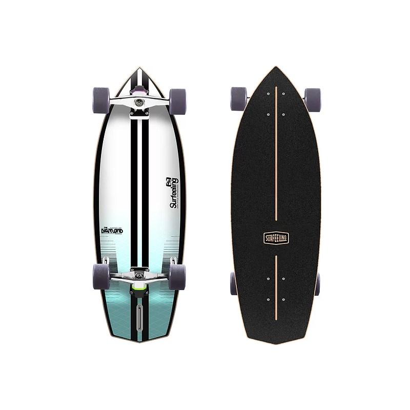 Skate Simulador de Surf Surfeeling Diamond New Blue