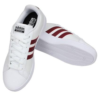 77150a60ac5 Tênis Adidas Cloudfoam Advantage White Collegiate Burgundy Tênis Adidas Cloudfoam  Advantage White Collegiate Burgundy