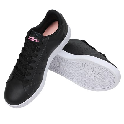 Tênis Adidas VS Advantage Clean Feminino Core Black Pink