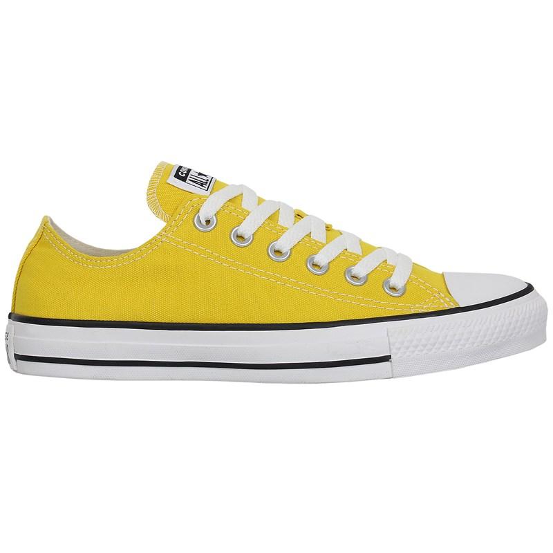 Tênis Converse Chuck Taylor All Star Amarelo Vivo Preto Branco