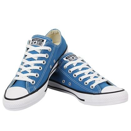 Tênis Converse Chuck Taylor All Star Azul Acido Preto Branco