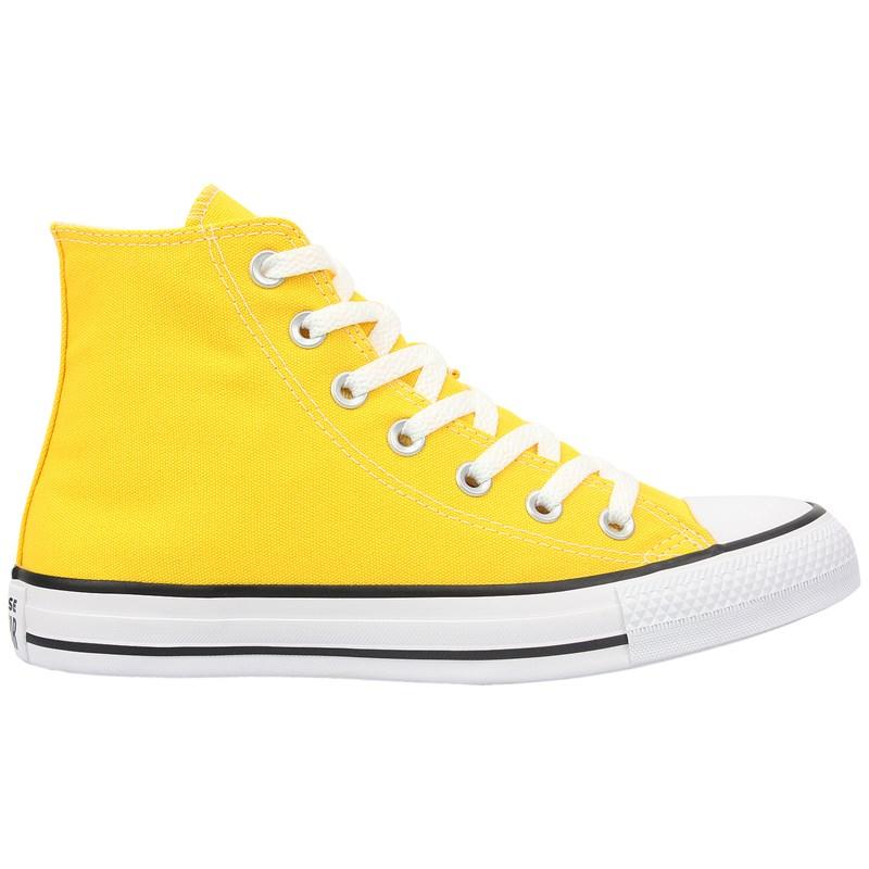 Tênis Converse Chuck Taylor All Star Hi Amarelo Preto Branco