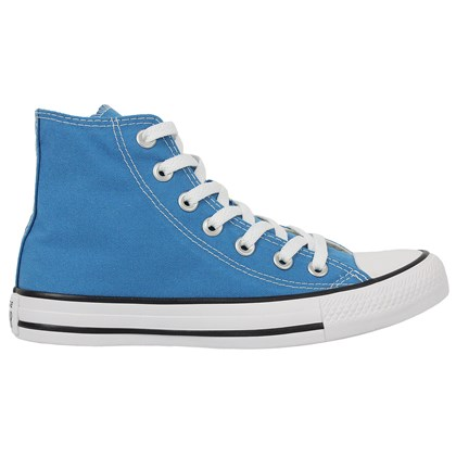 Tênis Converse Chuck Taylor All Star Hi Azul Acido Preto Branco