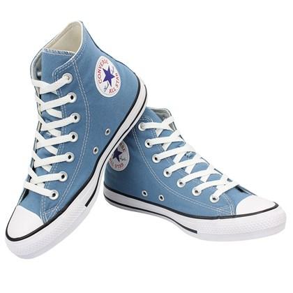 Tênis Converse Chuck Taylor All Star Hi Azul Escuro Preto Branco