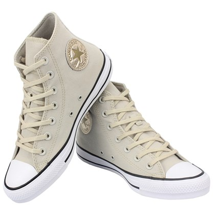 Tênis Converse Chuck Taylor All Star Hi Bege Claro Ouro Claro