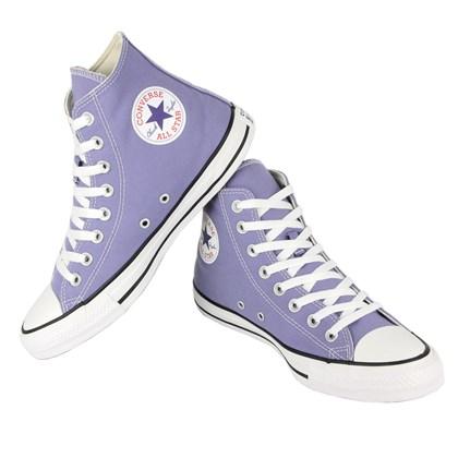 Tênis Converse Chuck Taylor All Star Hi Lilás Preto Branco