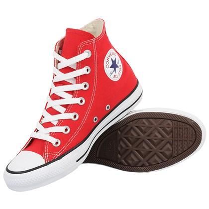 Tênis Converse Chuck Taylor All Star Hi Vermelho Cru Preto