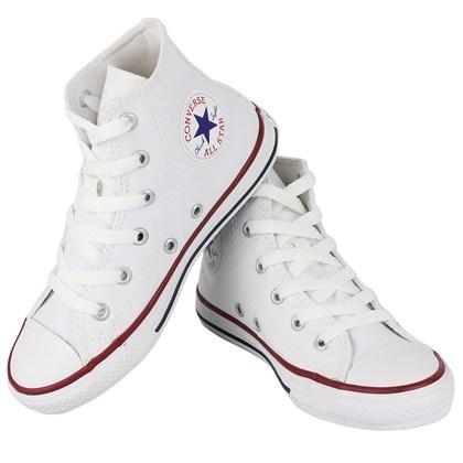 Tênis Converse Chuck Taylor All Star Infantil Hi Branco Branco Marinho