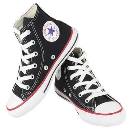 Tênis Converse Chuck Taylor All Star Infantil Hi Preto Vermelho Preto