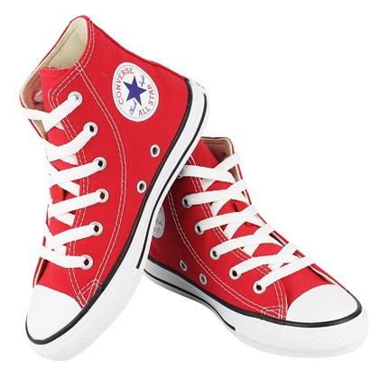 Tênis Converse Chuck Taylor All Star Infantil Hi Vermelho Cru Preto