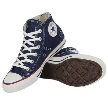 Tênis Converse Chuck Taylor All Star Mid Top Azul Azul Amendoa