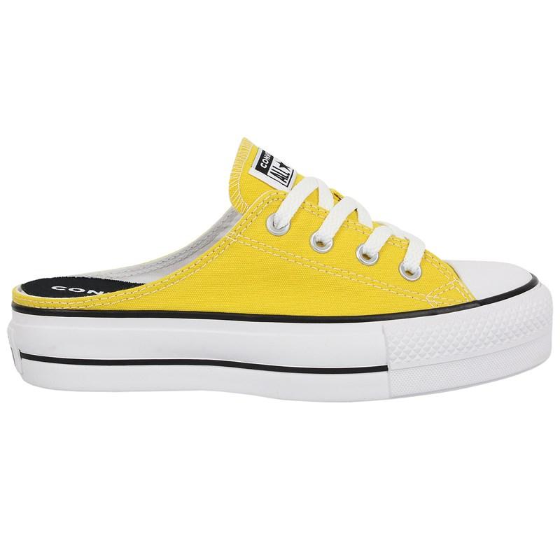 Tênis Converse Chuck Taylor All Star Mule Plataform Amarelo Vivo