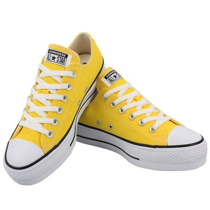 Tênis Converse Chuck Taylor All Star Plataform Amarelo Preto Branco