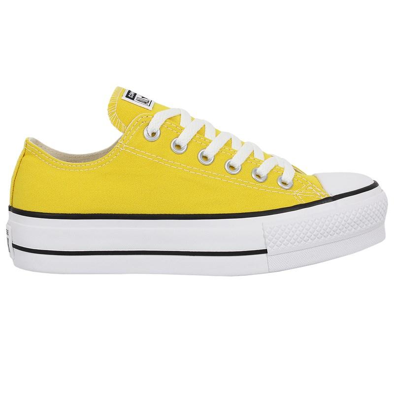 Tênis Converse Chuck Taylor All Star Plataform Amarelo Vivo