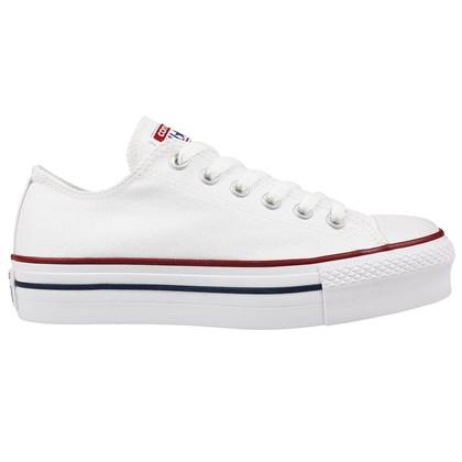 Tênis Converse Chuck Taylor All Star Plataform Branco Marinho