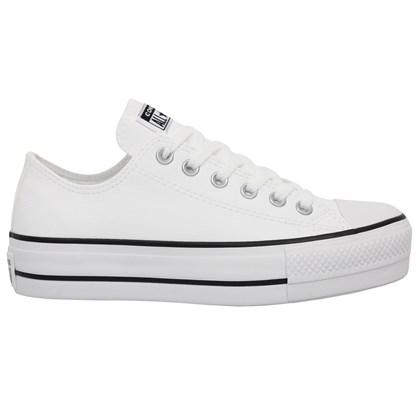 Tênis Converse Chuck Taylor All Star Plataform Branco Preto Branco