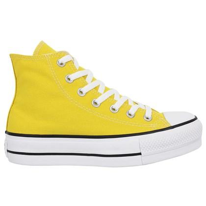 Tênis Converse Chuck Taylor All Star Plataform Hi Amarelo Vivo