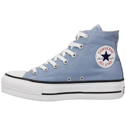 Tênis Converse Chuck Taylor All Star Plataform Hi Azul Aço