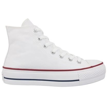 Tênis Converse Chuck Taylor All Star Plataform Hi Branco Marinho