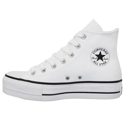 Tênis Converse Chuck Taylor All Star Plataform Hi Branco Preto Branco