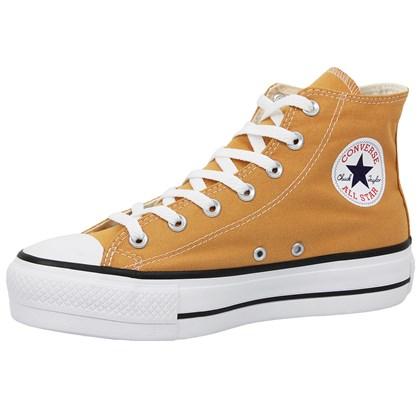 Tênis Converse Chuck Taylor All Star Plataform Hi Mostarda