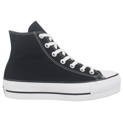 Tênis Converse Chuck Taylor All Star Plataform Hi Preto Branco