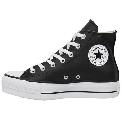 Tênis Converse Chuck Taylor All Star Plataform Hi Preto Branco Preto