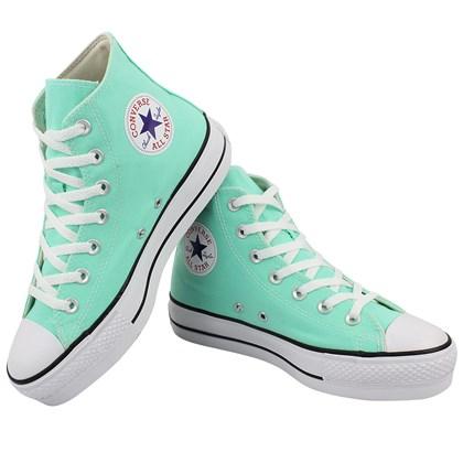 Tênis Converse Chuck Taylor All Star Plataform Hi Verde Brilhante Preto Branco