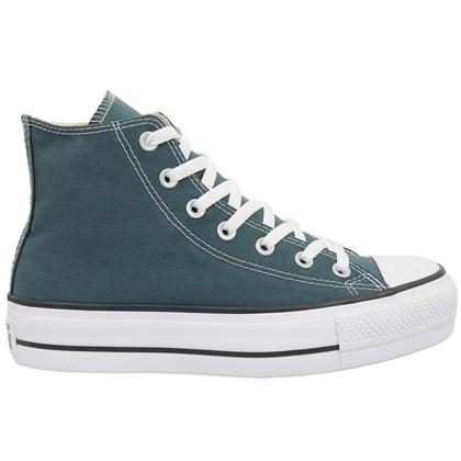 Tênis Converse Chuck Taylor All Star Plataform Hi Verde Escuro Preto Branco