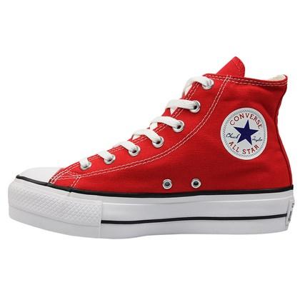 Tênis Converse Chuck Taylor All Star Plataform Hi Vermelho Preto